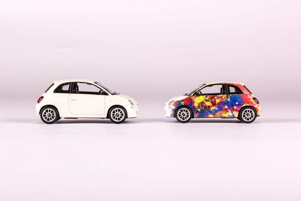 Sublimazione 3D - Fiat 500
